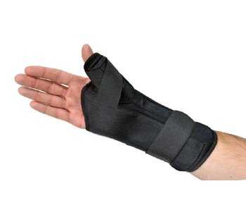 Comfort wrist and thumb brace black