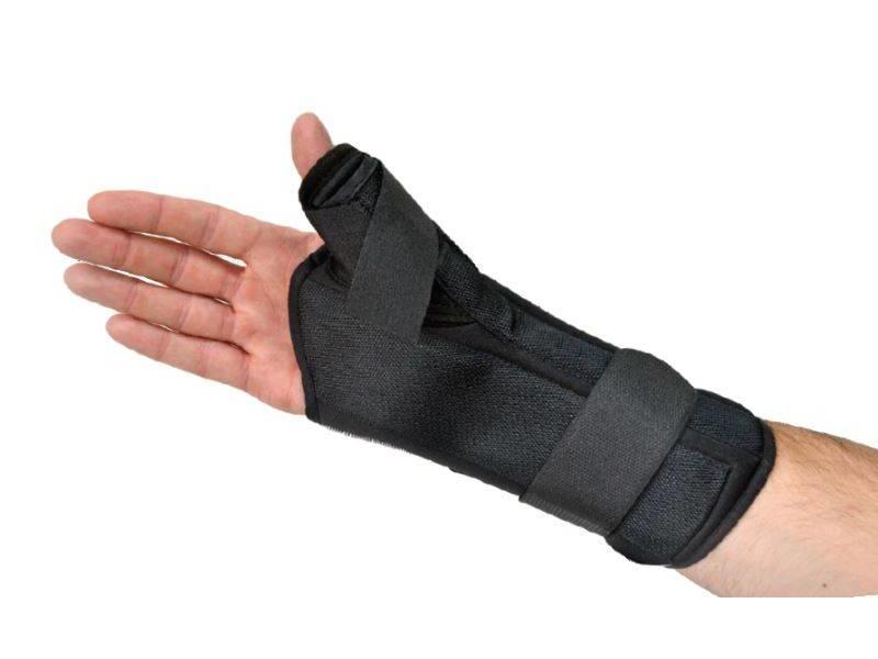 Attelle confort poignet pouce noir