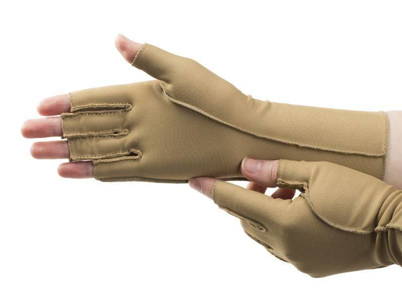 Isotoner therapeutische oedeem handschoenen open vingers