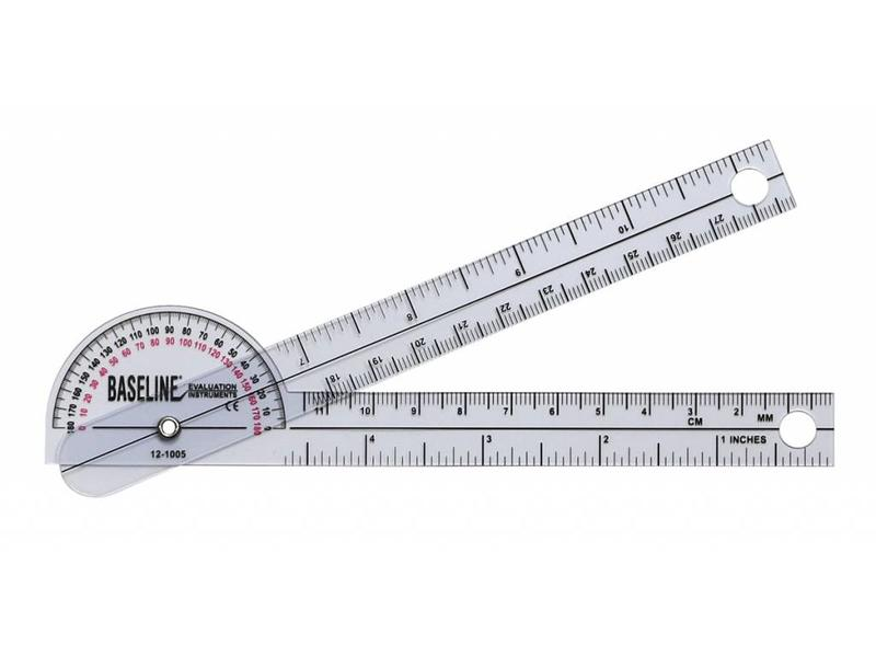 Baseline Plastic goniometer 180 degrees - Pocket Style