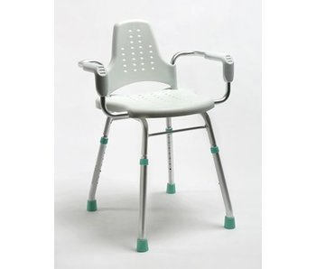 Shower and work chair Prima Modular with arm and backrest