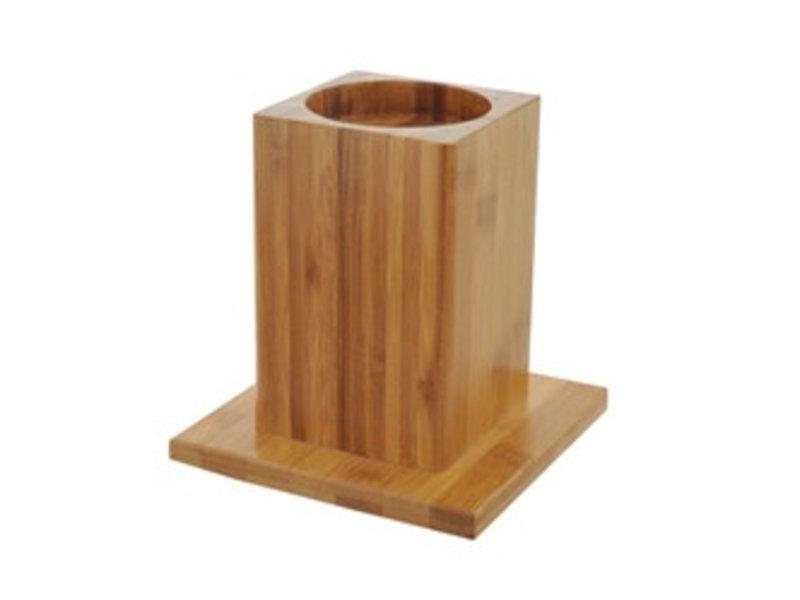 Surpresseurs de meubles en bambou de 9,3 cm - ensemble de 4