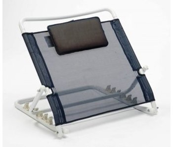 Adjustable back support for bed, with cushion