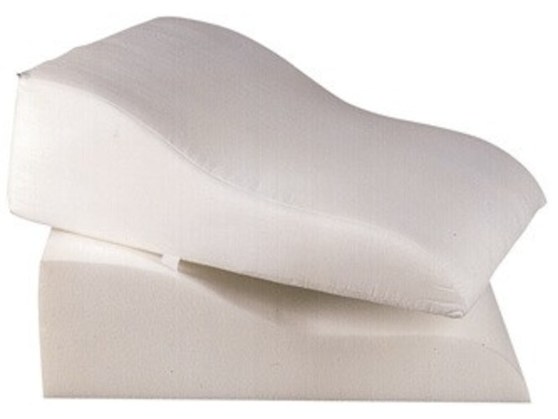 Wedge-shaped contour cushion for the legs visco
