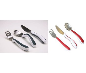 EA-fitted cutlery Kura Care set of 3 adults version dark gray / white