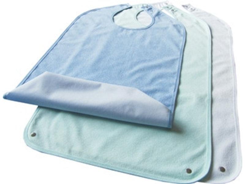 Bavoir en tissu éponge, avec zone de collecte