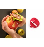 Peeler with finger fixation