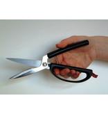 Éplucheur à fixer sur la table ou le plan de travail pour pouvoir éplucher le fruit ou les légumes d'une seule main.