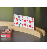 Playing card holder in beech hemisphere