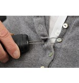Button hook with thickened handle