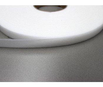 Bande de boucle velours blanc 12 mm.