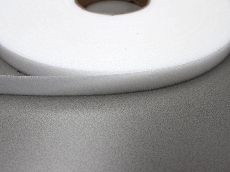 Velor loop tape White 12 mm.