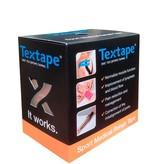 Textape elastische tape  zwart
