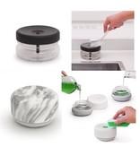 Soap dispenser for single-handed use