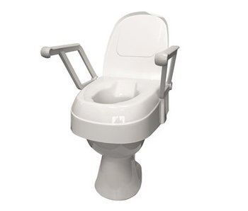 Hoogteverstelbare toiletverhoger met opklapbare armsteunen