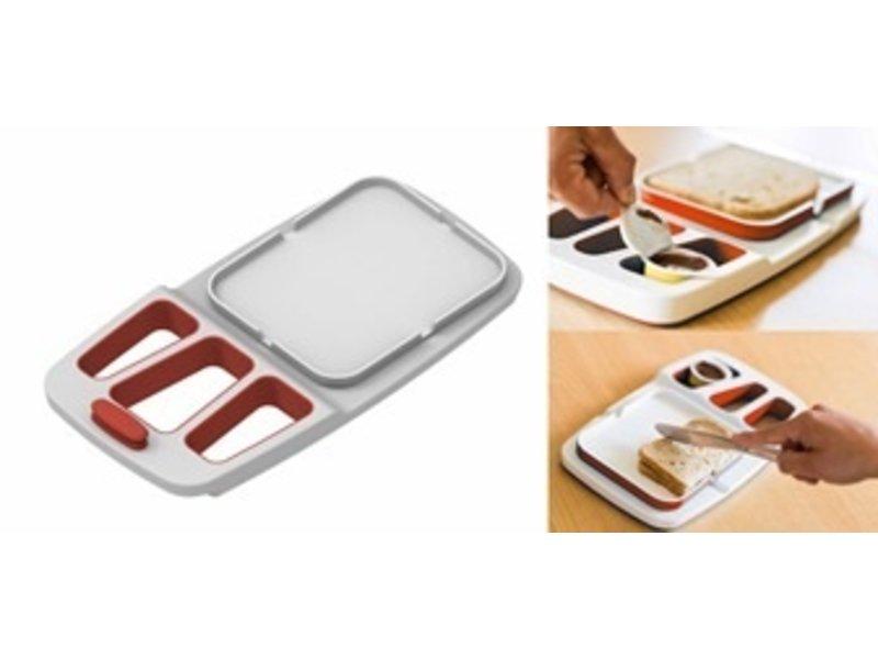 Designer butter ham board for single-handed use