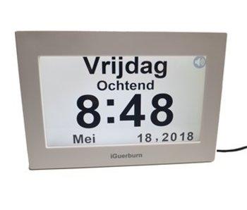 Horloge parlante numérique NL / FR - Horloge Alzheimer