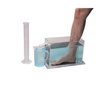 Volume meter set foot