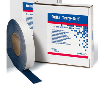 Delta Terry-Net adhesive edge fleece blue