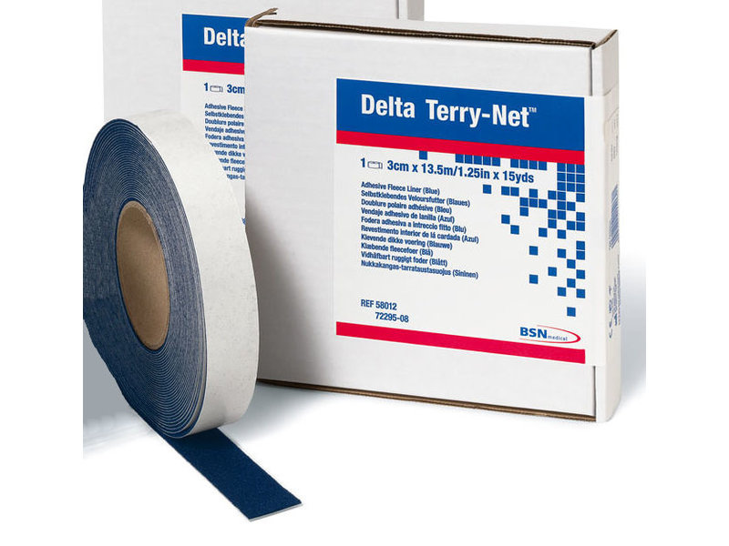 Delta Terry-Net klevende randpolstering blauw
