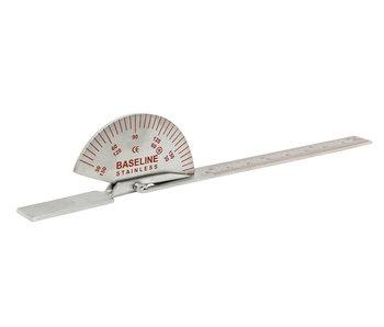 Goniomètre en acier inoxydable de 15 cm