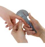 Goniomètre acier inoxydable de 10 cm à 180 degrés