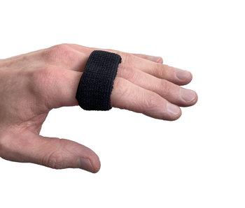 Attelle de doigt élastique noire