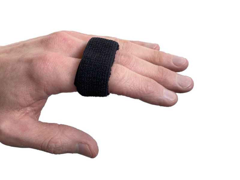 Elastische vingerspalk zwart
