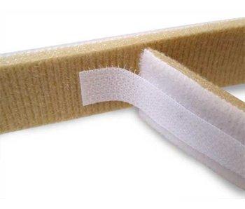 Schaum-Klebeband Doppelschleifen- weiß / beige