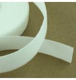 Bande de boucle velours blanc 16 mm.