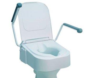 Toiletverhoger met opklapbare armsteunen, hoogteverstelbaar