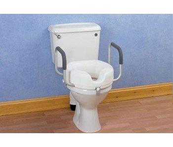 Toiletkussen met handgrepen