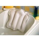 Oreiller de bain gonflable avec doublure en tissu éponge