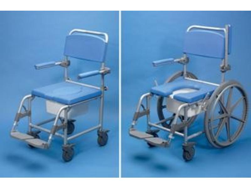 Douche / chaise de toilette à roulettes Deluxe Days, l'aluminium