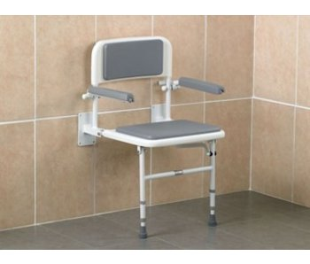Days shower seat for wall mount and floor support