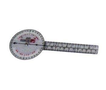 Goniomètre 20 cm en plastique 360 ISOM