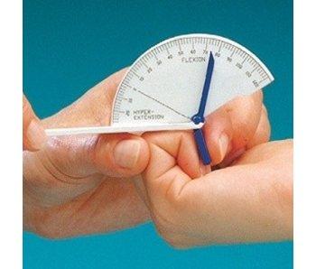 Flexie- hyperextensie vinger goniometer groot