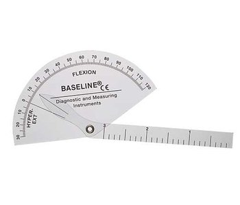 Flexion hyperextension finger goniometer