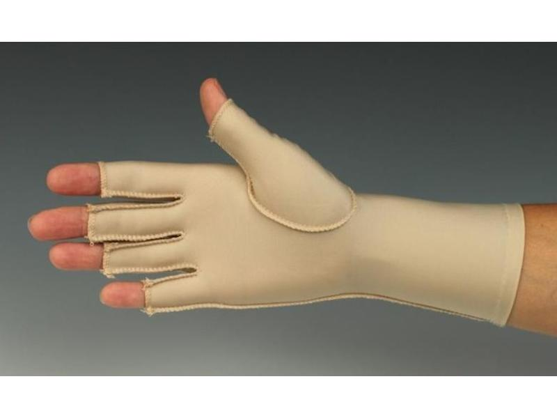 Edema glove with open vingers