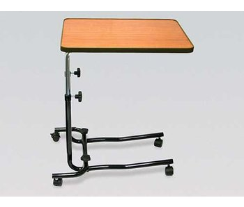 Bed table on casters
