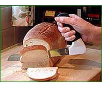 Kitchen knife with ergonomic handle