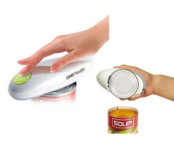 Can opener preserves battery-handed - One Touch ™