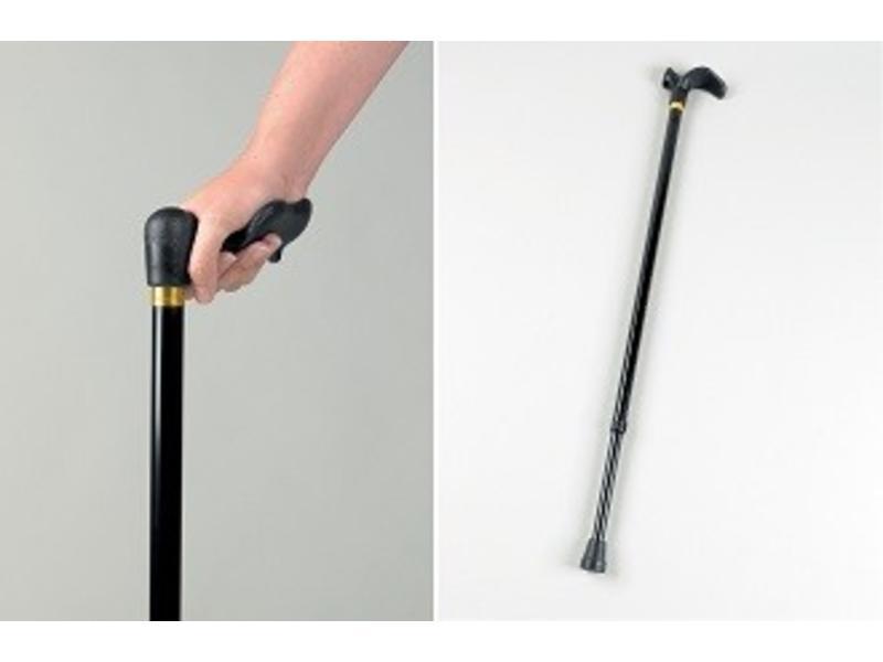 Bâton de marche avec une large poignées Palm Grip