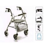 Gigo en aluminium marchette à quatre roues, pliable