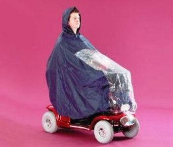 Scooter Poncho Cape with full protection of rider and scooter