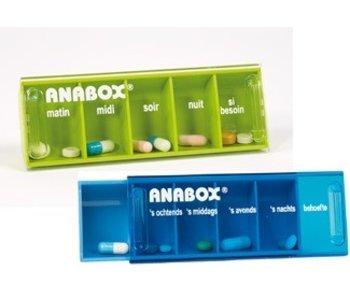 Pillendoosje Anabox voor 1 dag 5 vakjes