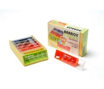 Kinder Pillbox Anabox für 1 Woche, 5 Fächer pro Tag