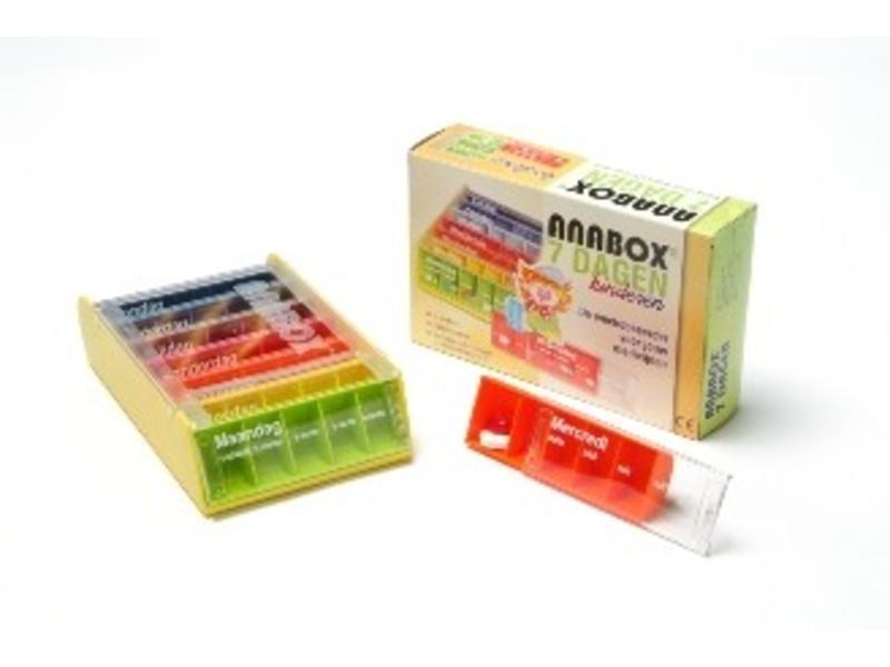 Enfants Pilulier Anabox pendant 1 semaine, 5 compartiments par jour