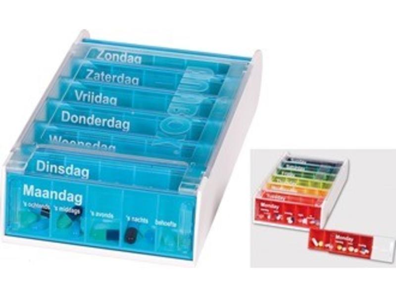 Pillbox Anabox für eine Woche, fünf Boxen pro Tag