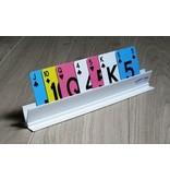 Spielkartenhalter aus weißem Kunststoff Henro Karte